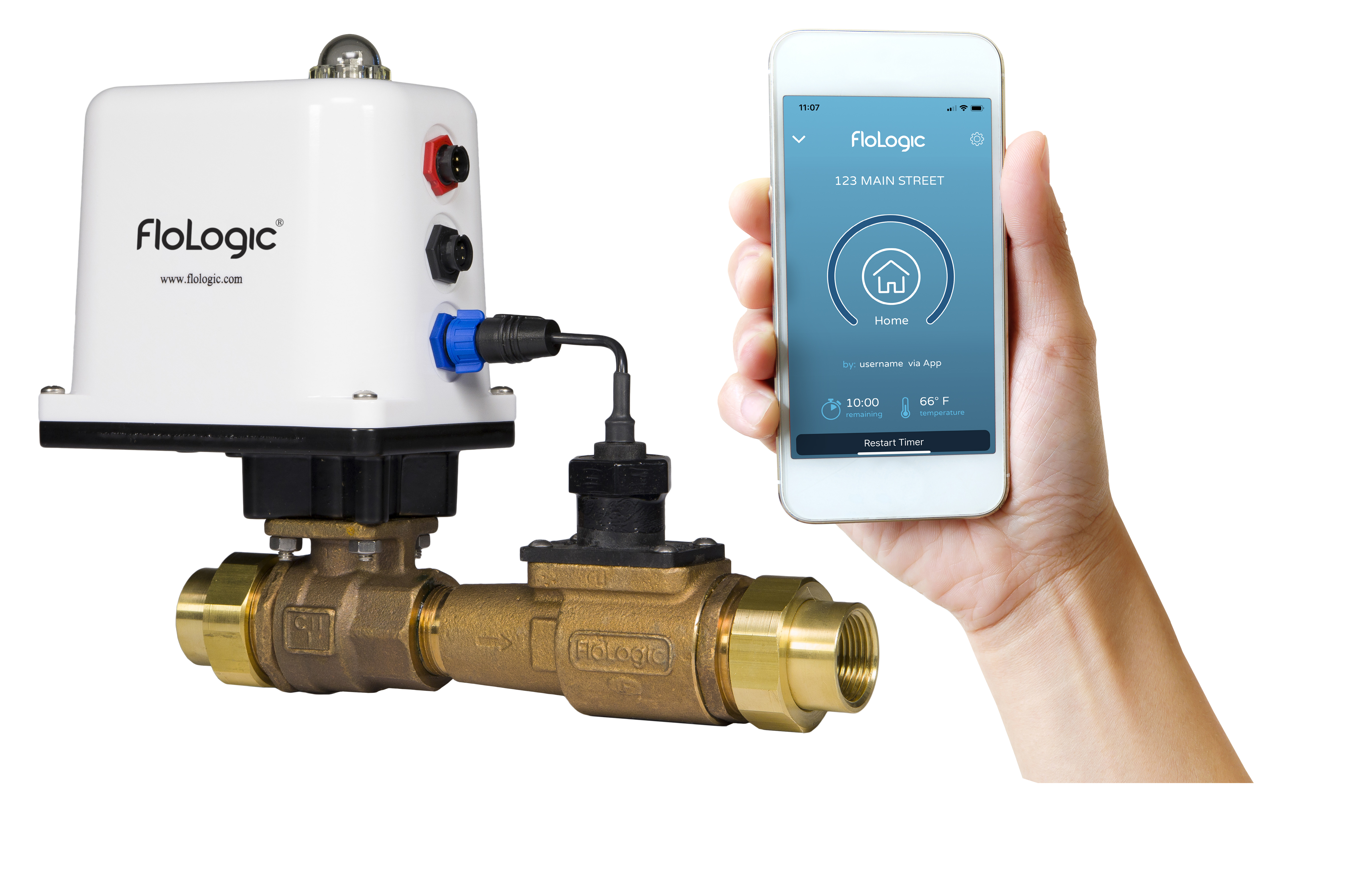 FloLogic Smart Leak Detection Metro Water Filtration