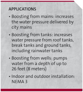 grundfos water boosting pump info